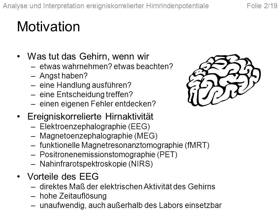 Motivation Was tut das Gehirn, wenn wir