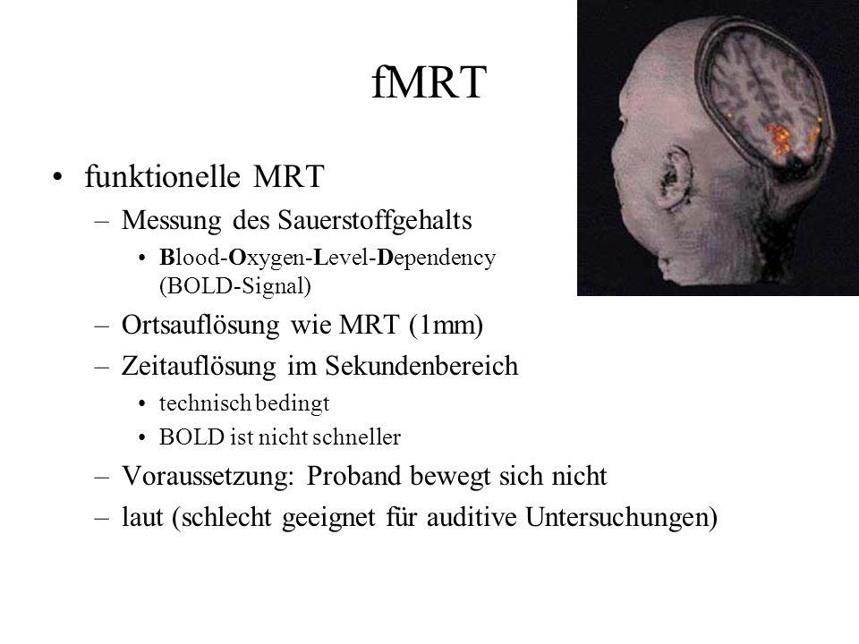 fMRT funktionelle MRT Messung des Sauerstoffgehalts