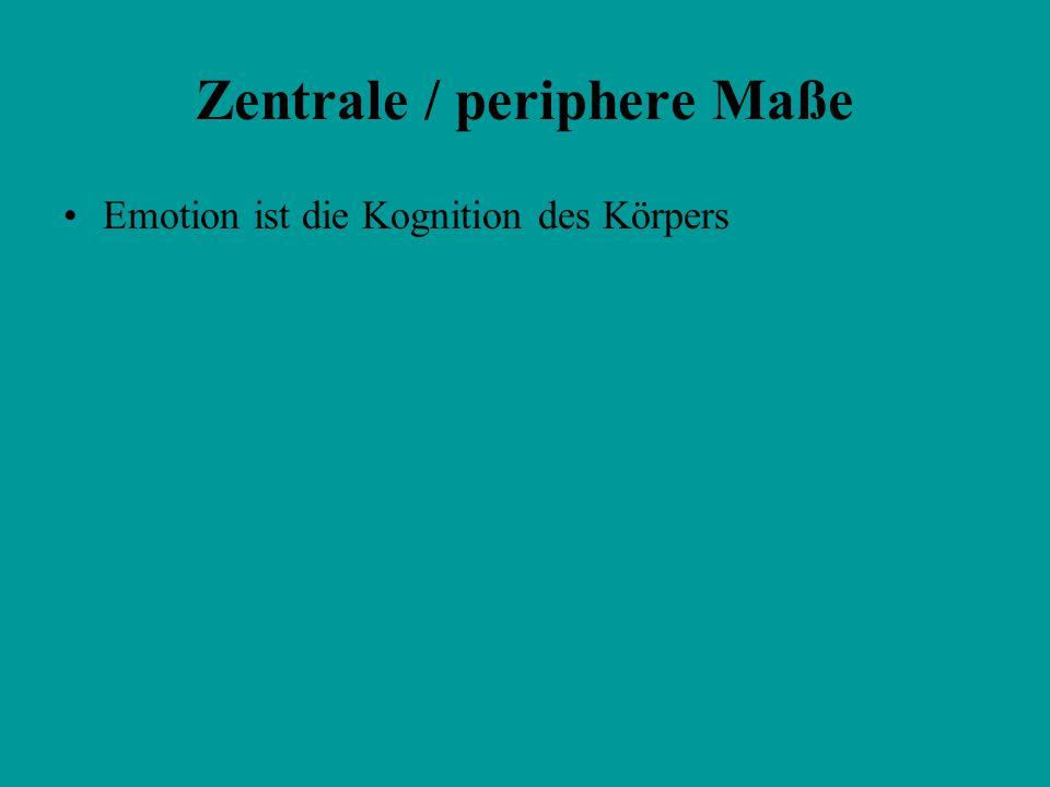 Zentrale / periphere Maße