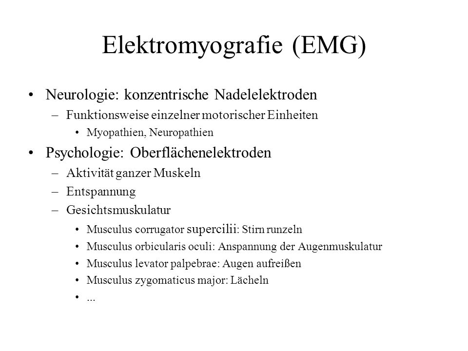 Elektromyografie (EMG)