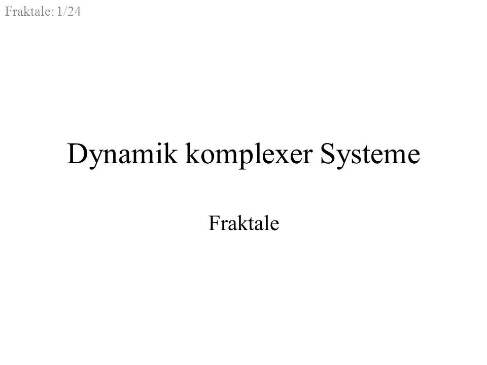 Dynamik komplexer Systeme