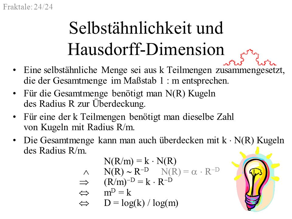 Selbstähnlichkeit und Hausdorff-Dimension