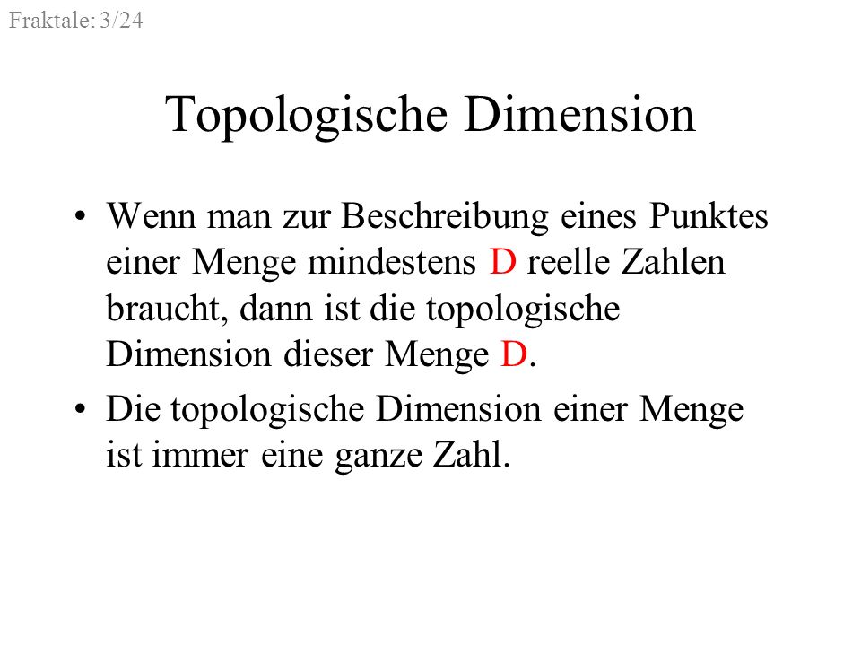 Topologische Dimension