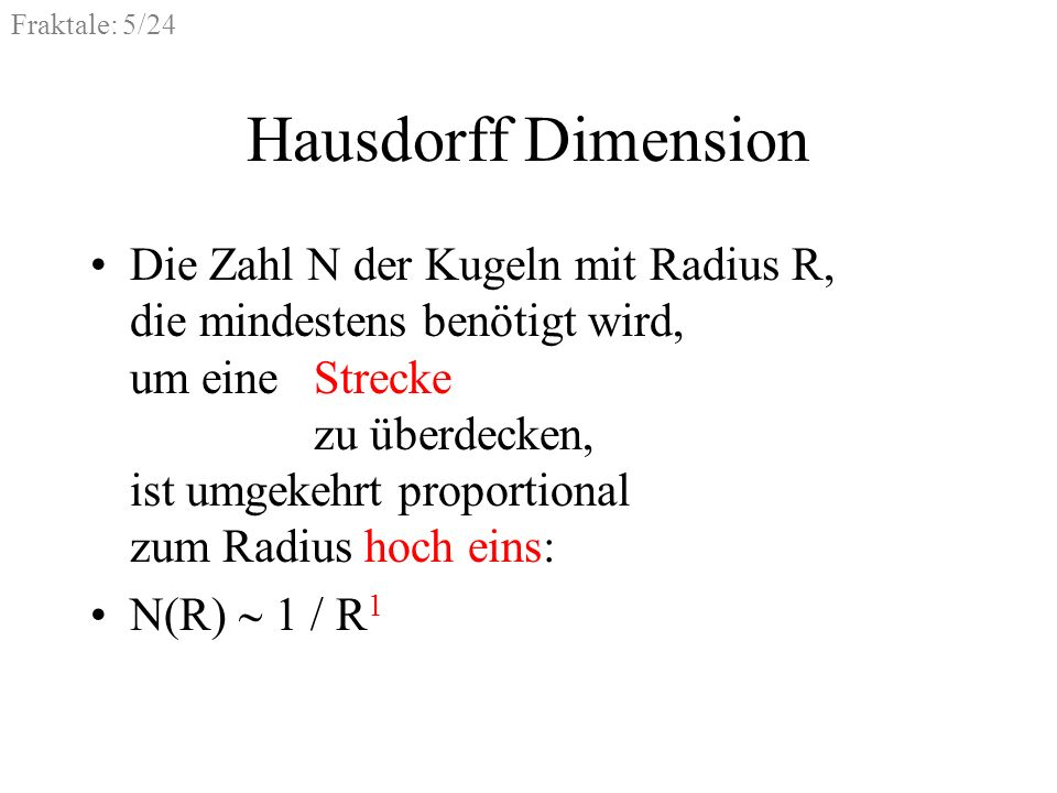 Hausdorff Dimension