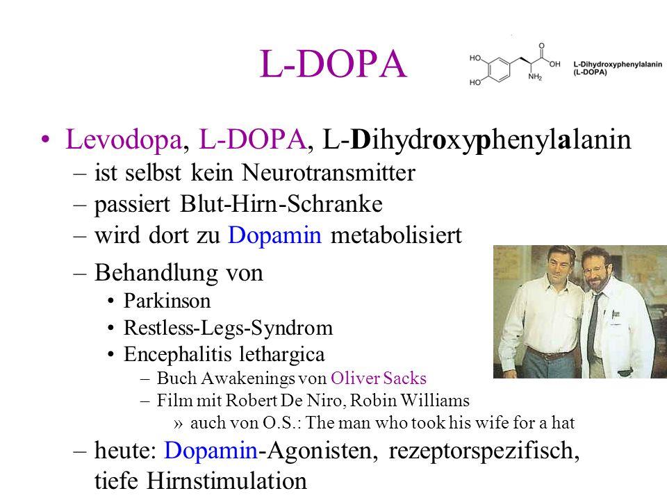 L-DOPA Levodopa, L-DOPA, L-Dihydroxyphenylalanin