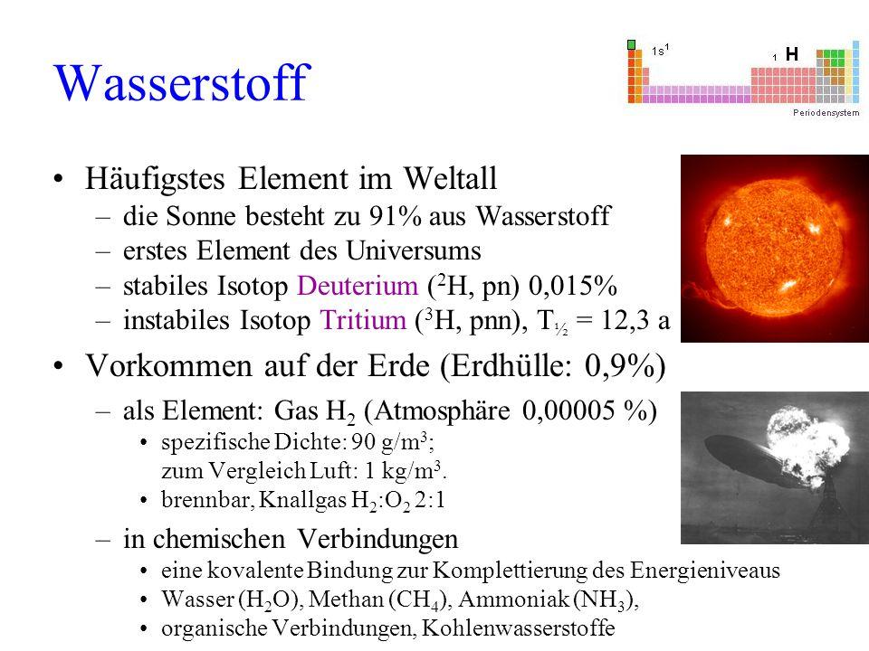 Wasserstoff Häufigstes Element im Weltall