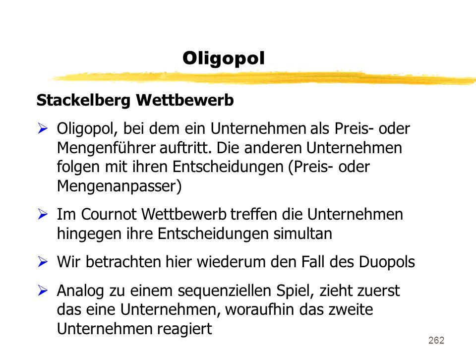 Oligopol Stackelberg Wettbewerb