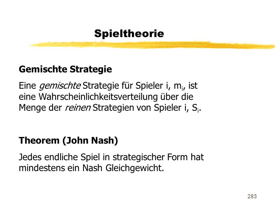 Spieltheorie Gemischte Strategie