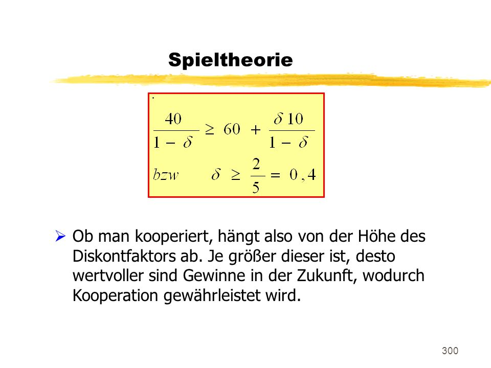 Spieltheorie