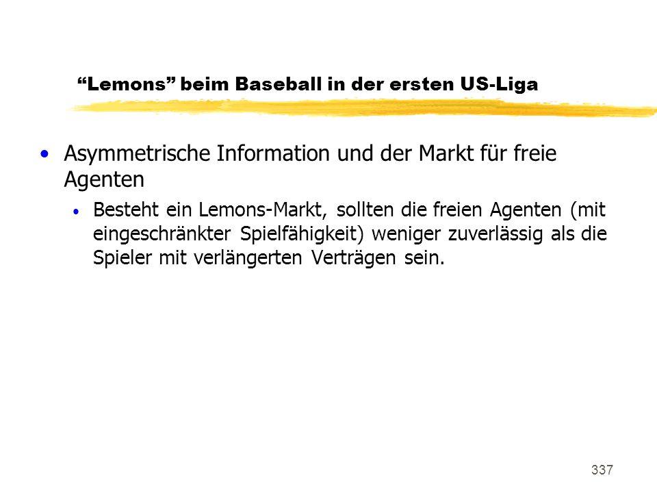 Lemons beim Baseball in der ersten US-Liga