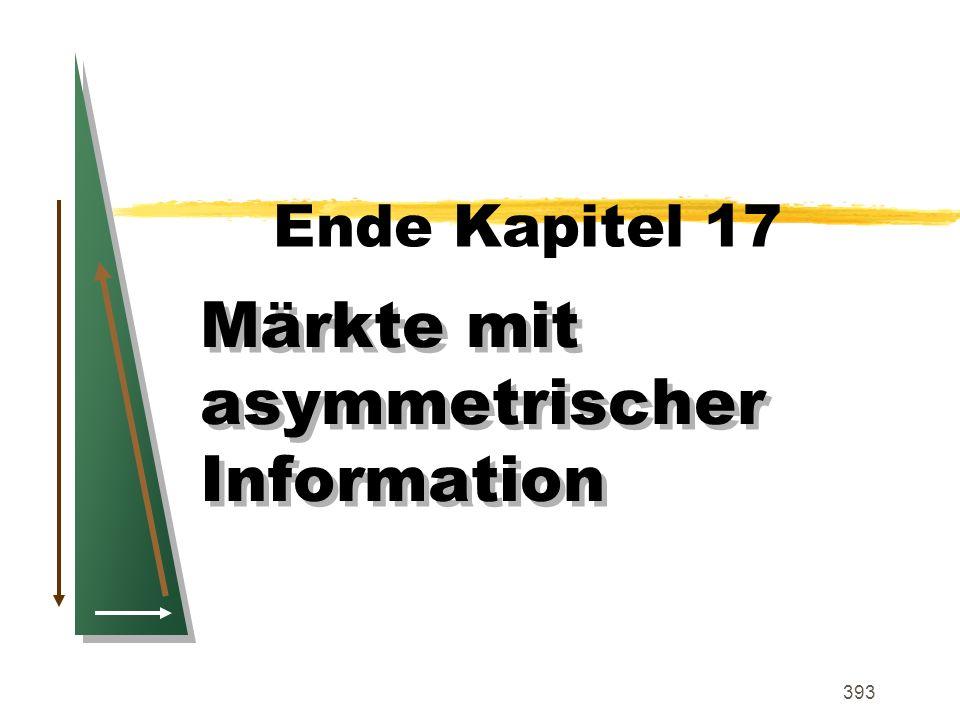 Märkte mit asymmetrischer Information