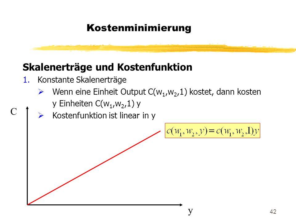 Skalenerträge und Kostenfunktion