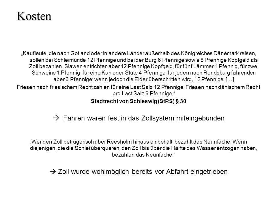 Stadtrecht von Schleswig (StRS) § 30