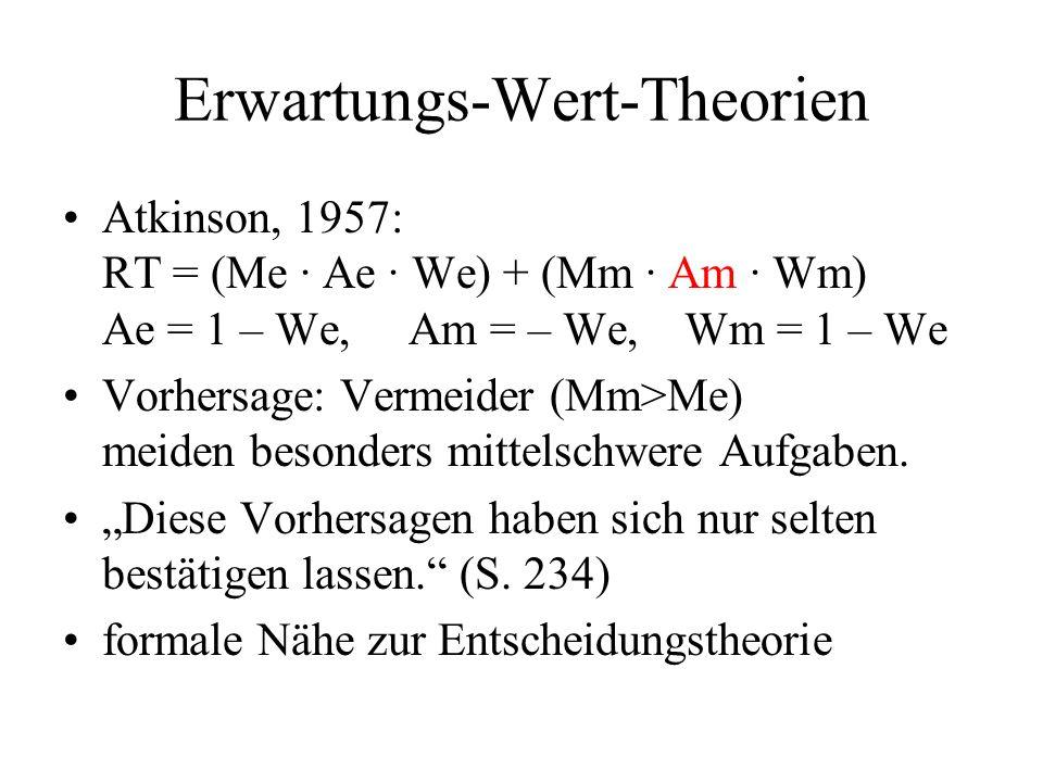 Erwartungs-Wert-Theorien