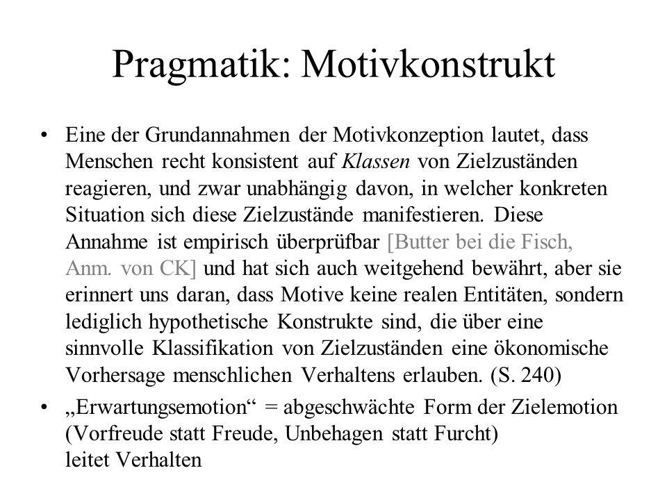 Pragmatik: Motivkonstrukt