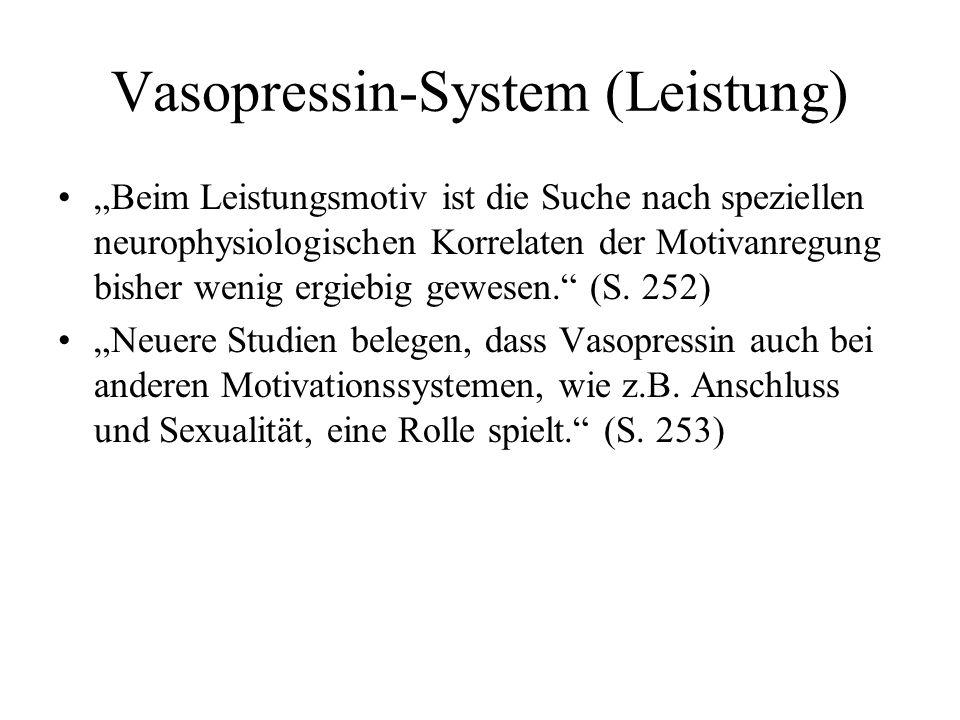 Vasopressin-System (Leistung)
