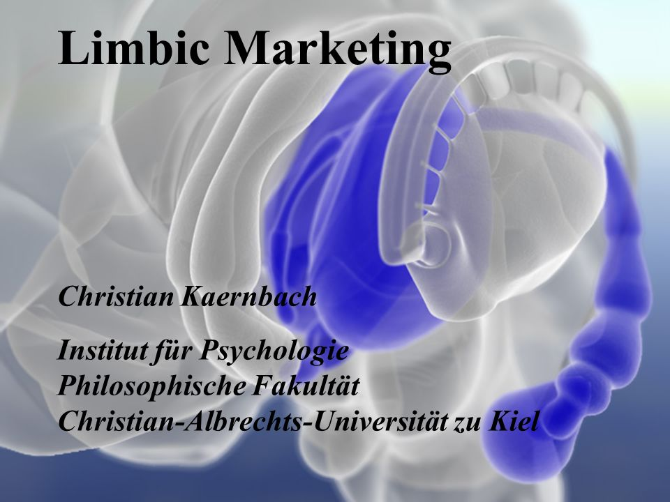 Limbic Marketing Christian Kaernbach