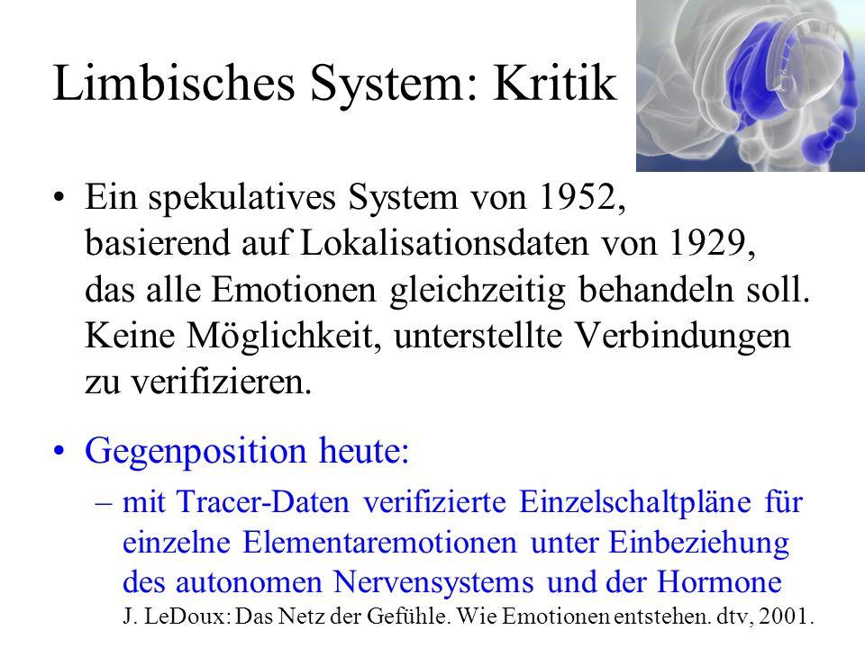 Limbisches System: Kritik