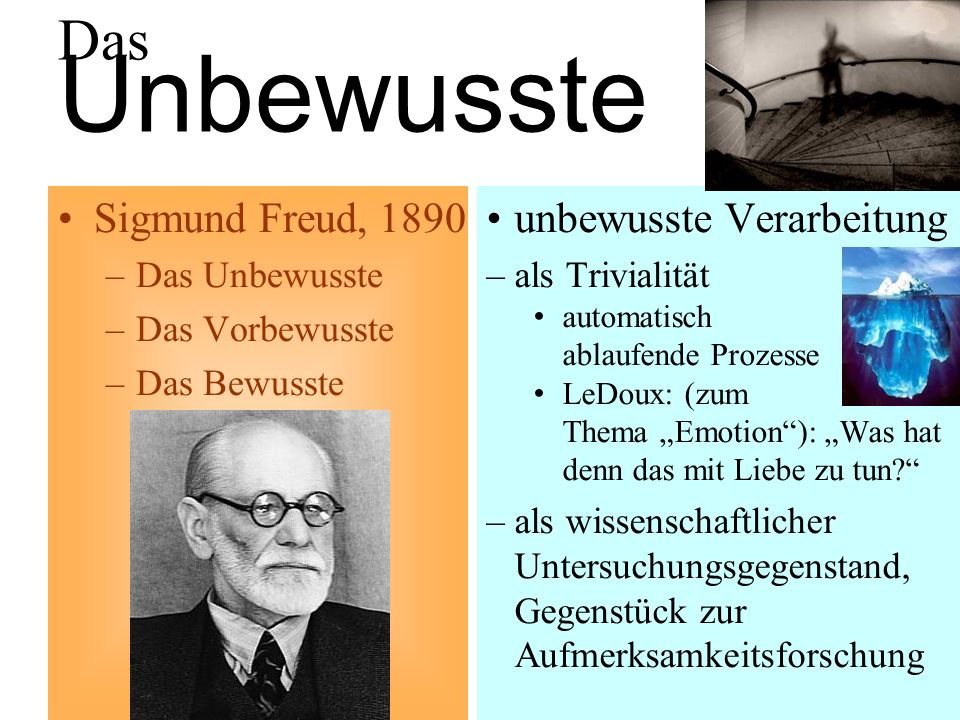 Das Unbewusste Sigmund Freud, 1890 unbewusste Verarbeitung