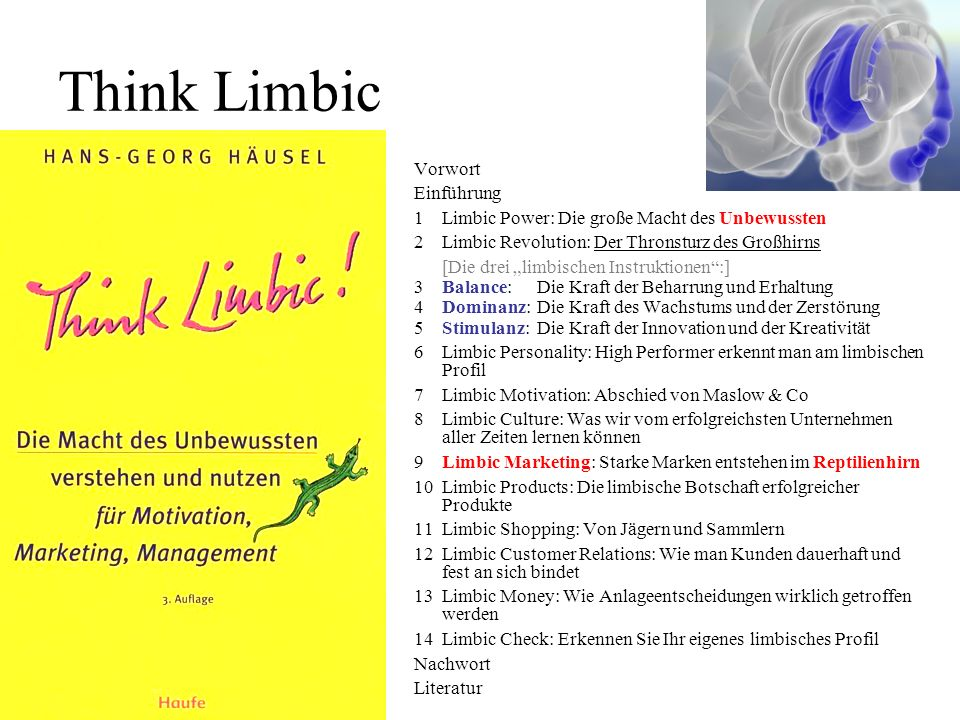 Think Limbic Vorwort Einführung