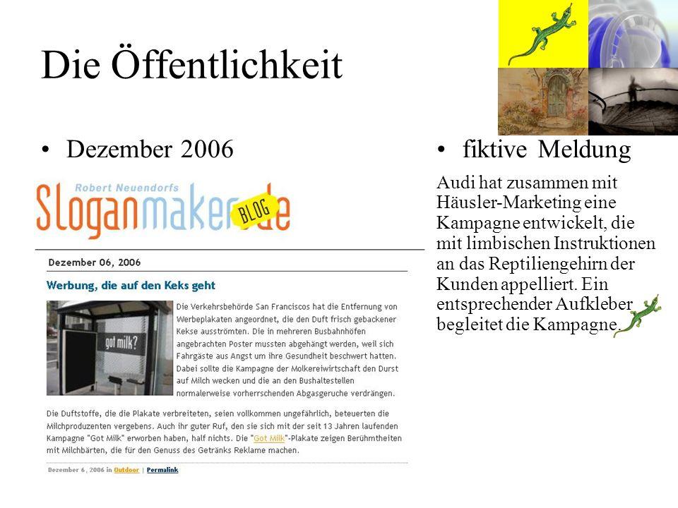 Die Öffentlichkeit Dezember 2006 fiktive Meldung