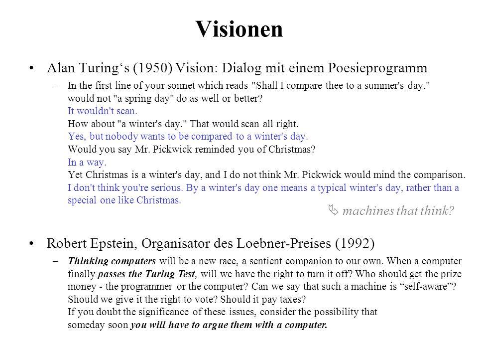 Mitschrift von Chip Vivant, Sieger des Loebner-Preises 2012