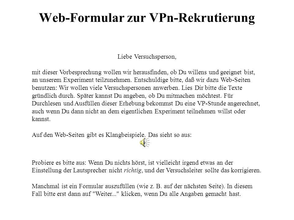 Web-Formular zur VPn-Rekrutierung