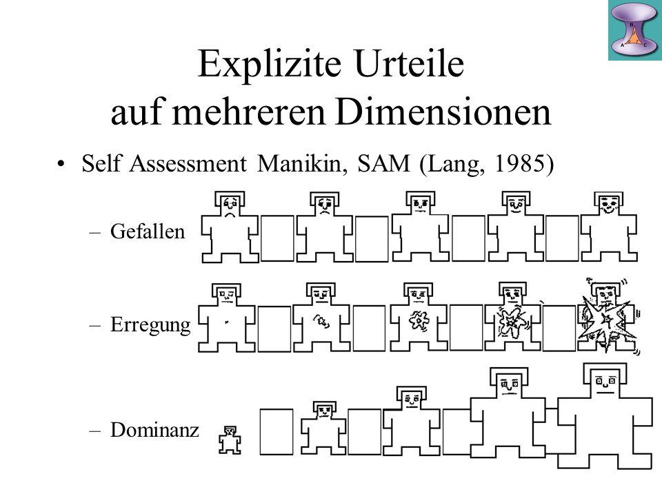 Explizite Urteile auf mehreren Dimensionen