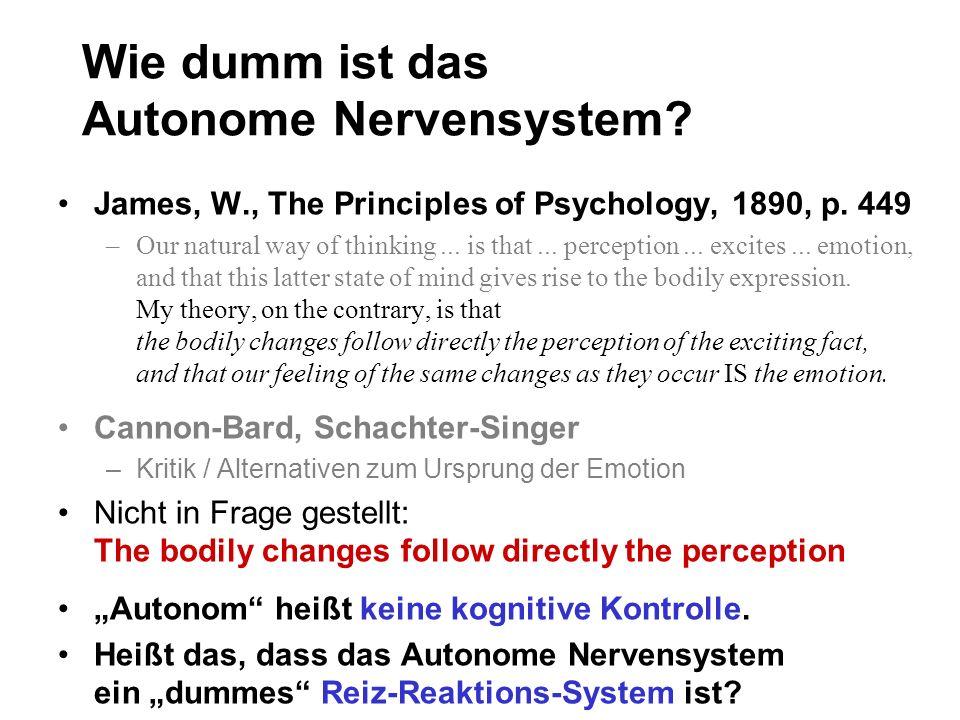 Wie dumm ist das Autonome Nervensystem