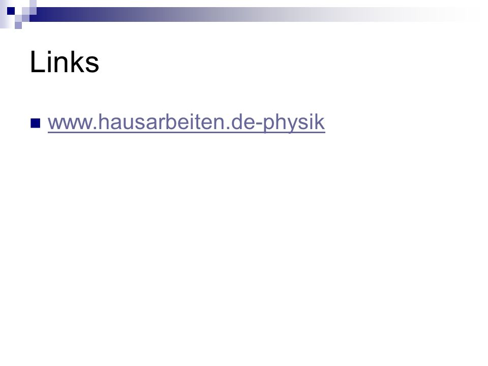 Links www.hausarbeiten.de-physik