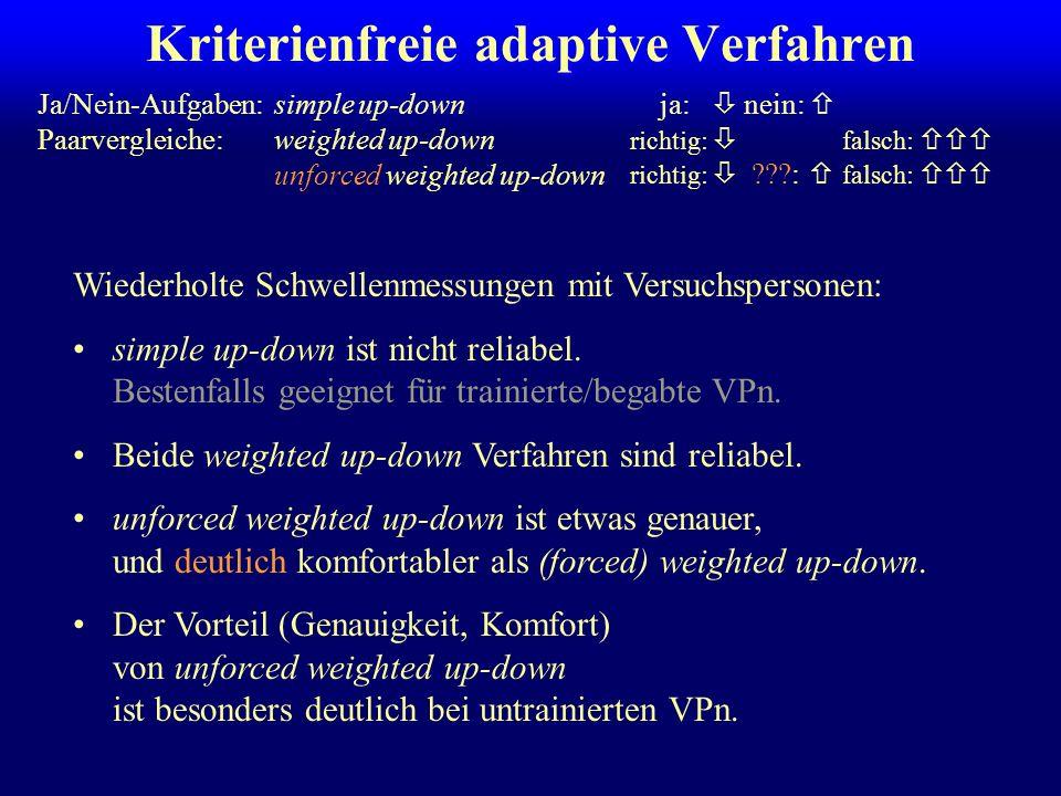 Kriterienfreie adaptive Verfahren