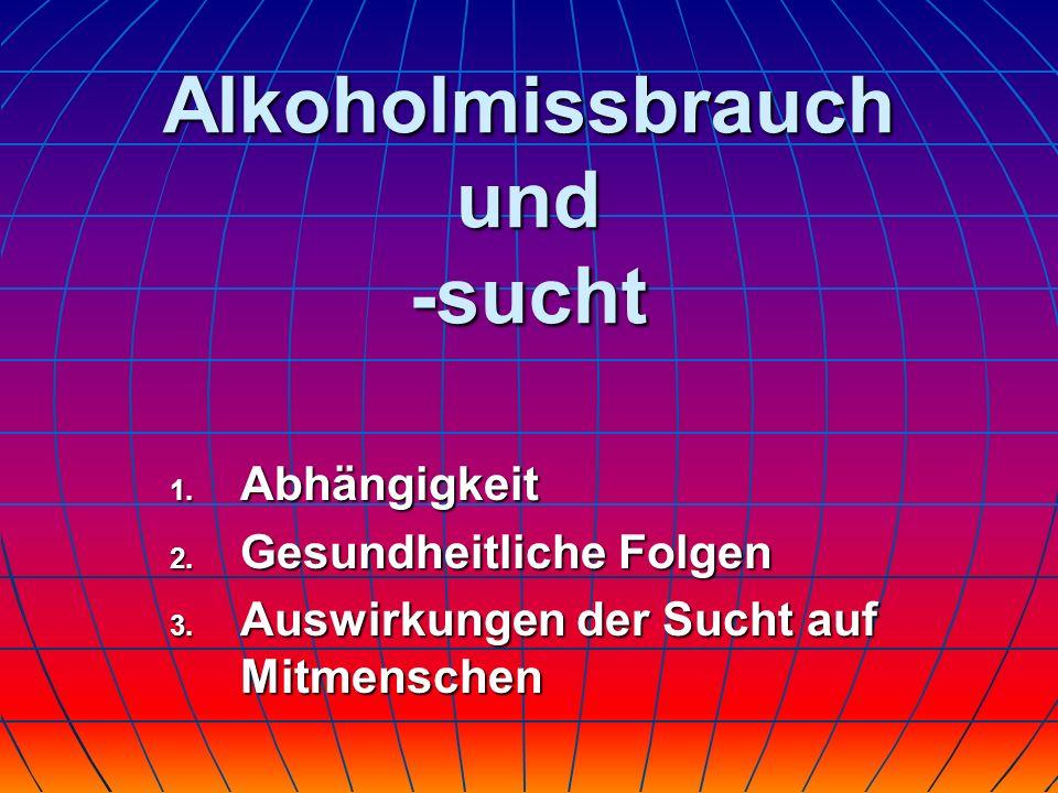 Alkoholmissbrauch und -sucht