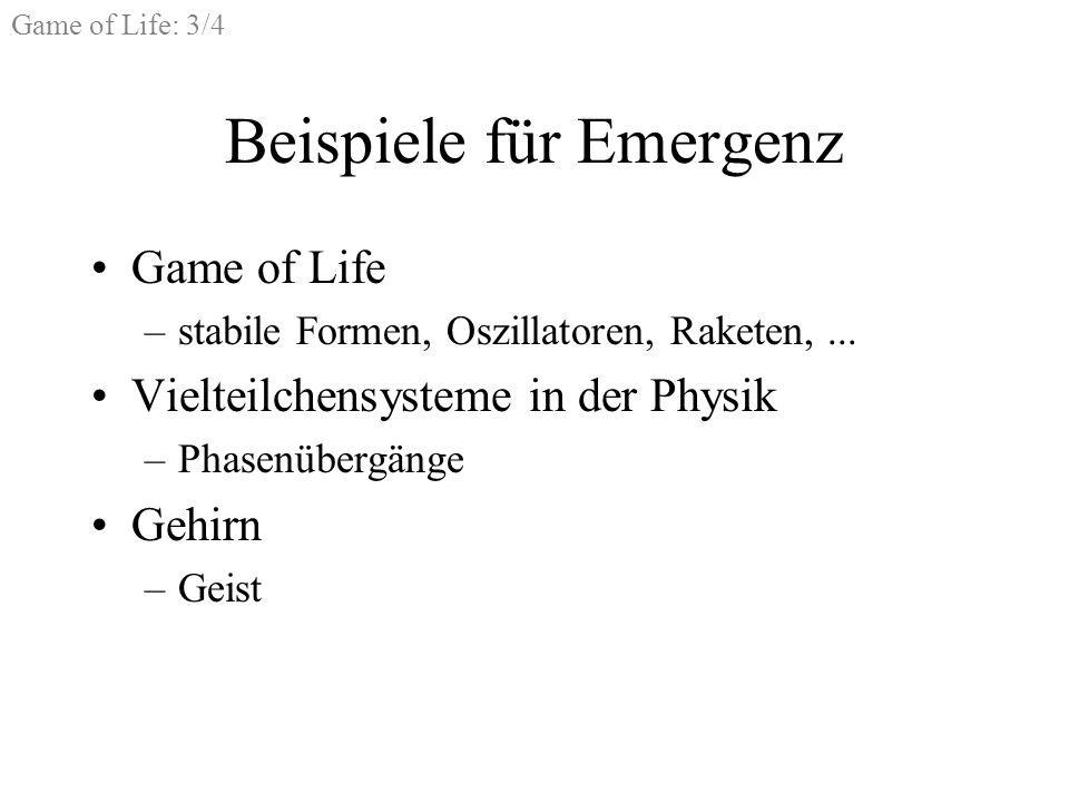 Beispiele für Emergenz