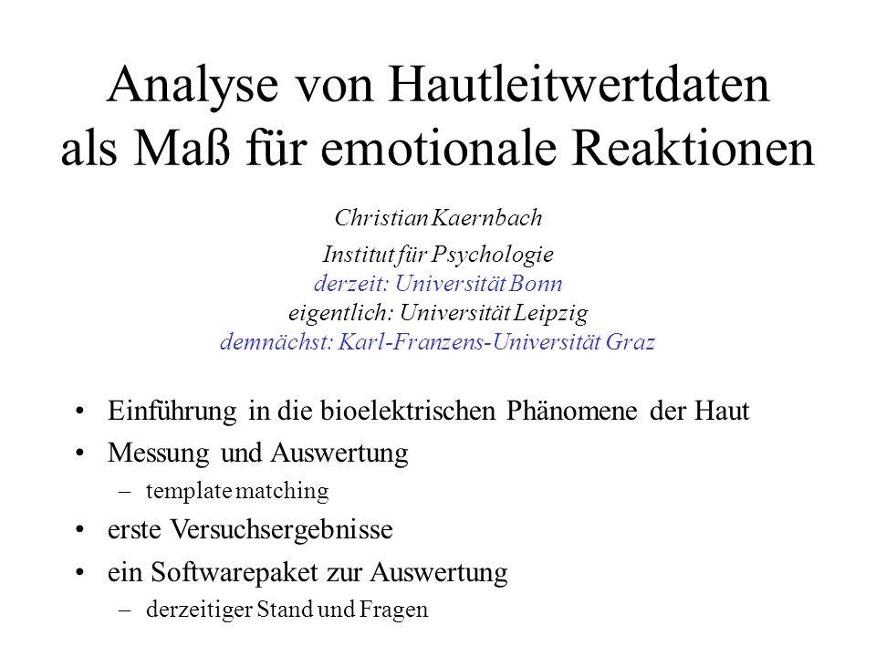 Analyse von Hautleitwertdaten als Maß für emotionale Reaktionen