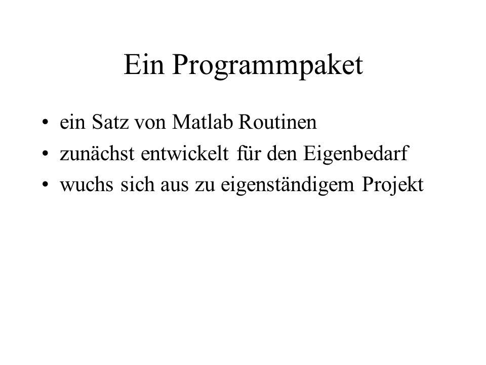 Ein Programmpaket ein Satz von Matlab Routinen