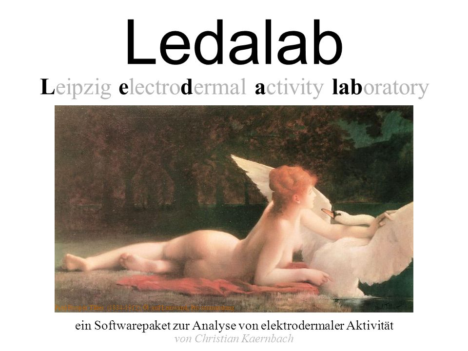 Ledalab Leipzig electrodermal activity laboratory