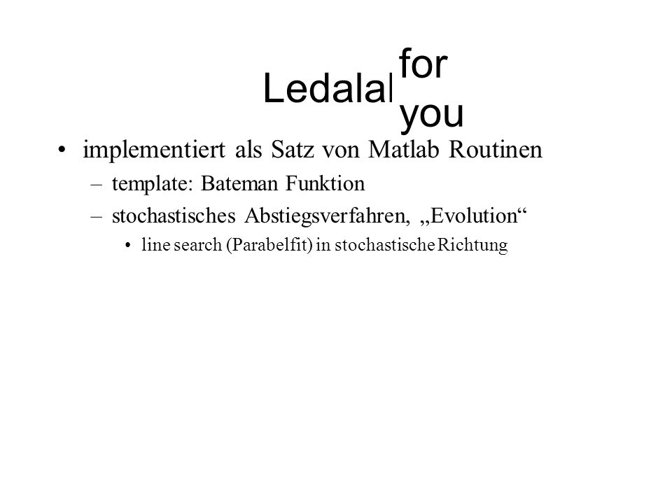 Ledalab for me for you implementiert als Satz von Matlab Routinen