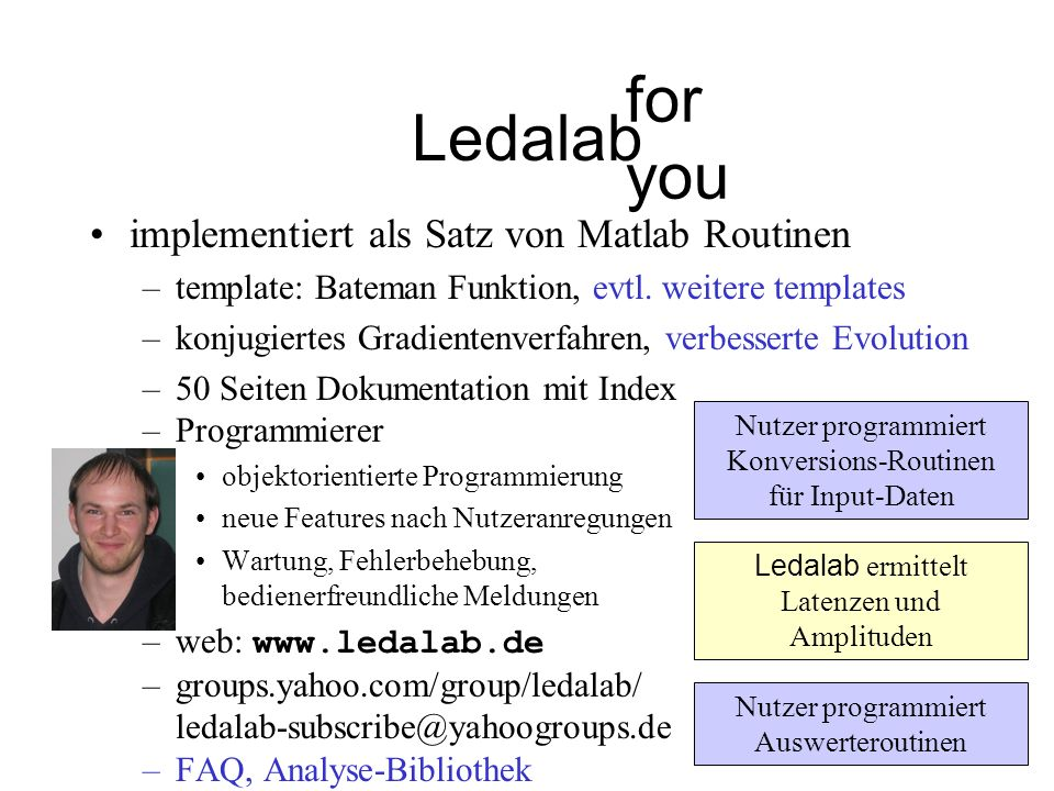Ledalab for you implementiert als Satz von Matlab Routinen