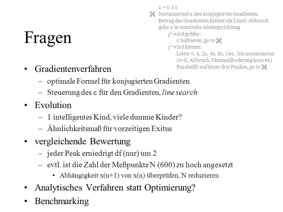 Fragen Gradientenverfahren Evolution vergleichende Bewertung