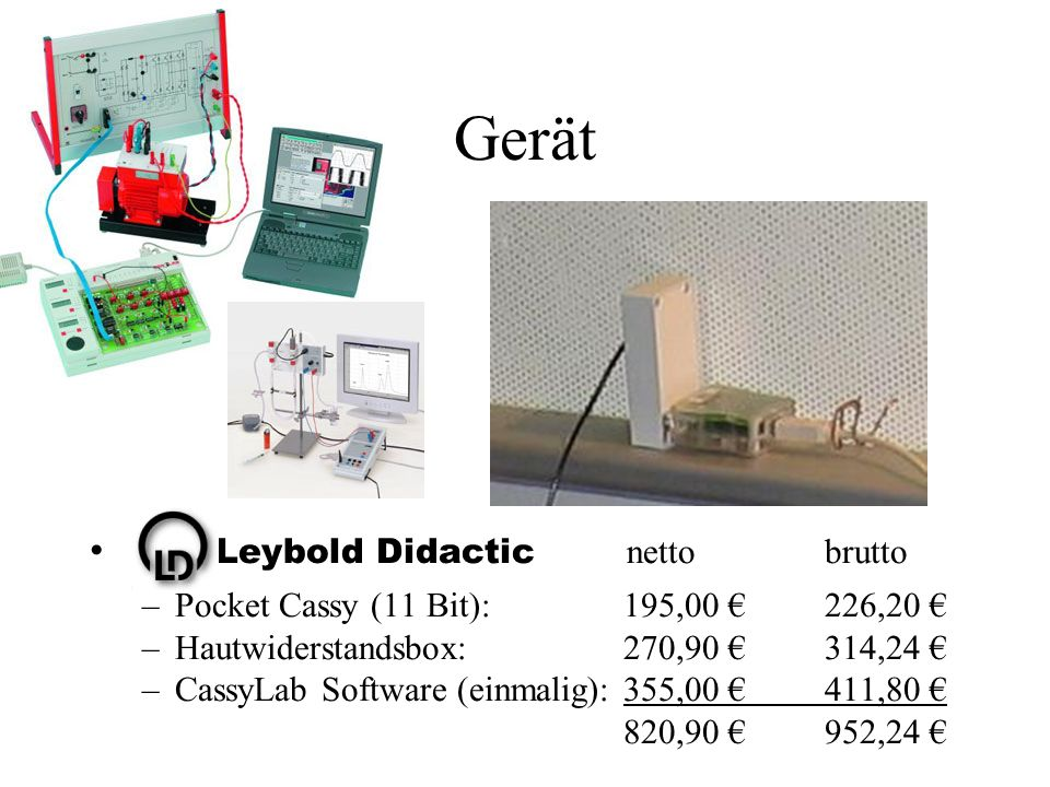 Gerät Leybold Didactic netto brutto