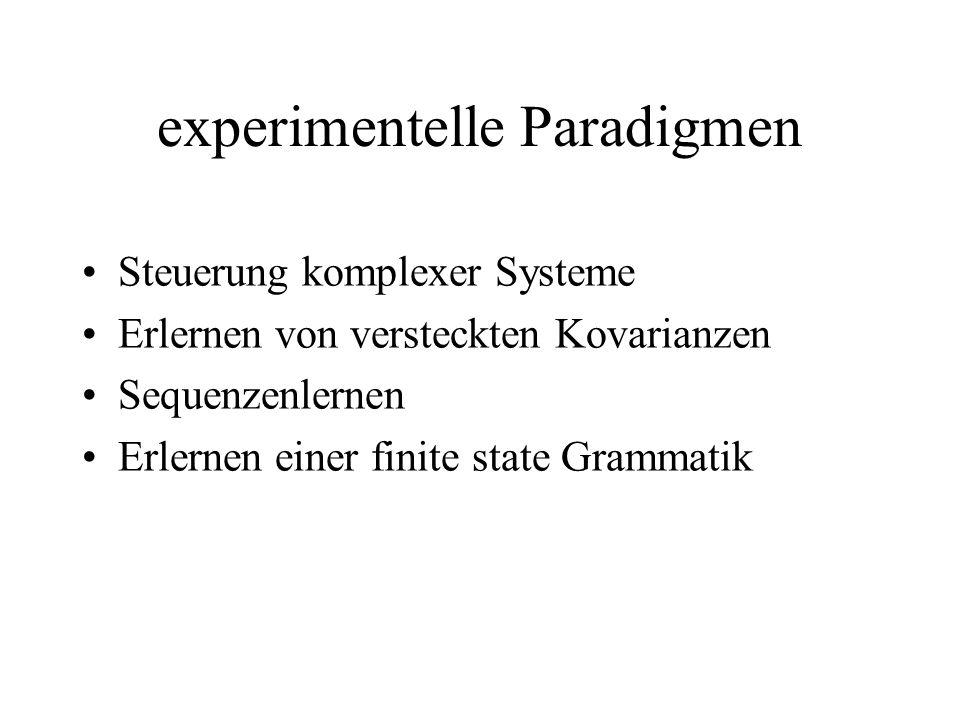 experimentelle Paradigmen