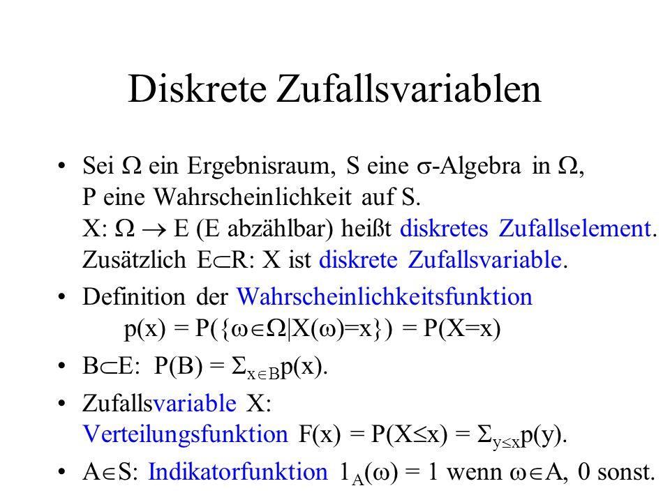 Diskrete Zufallsvariablen