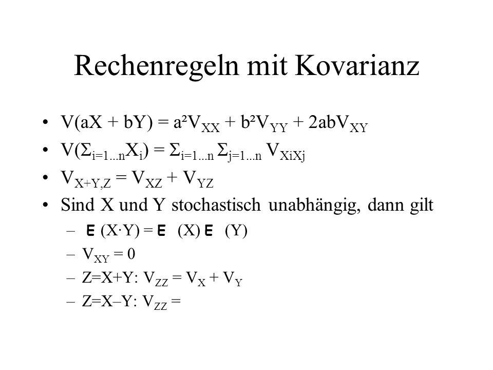 Rechenregeln mit Kovarianz