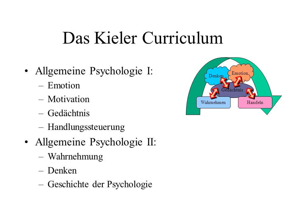 Das Kieler Curriculum Allgemeine Psychologie I: