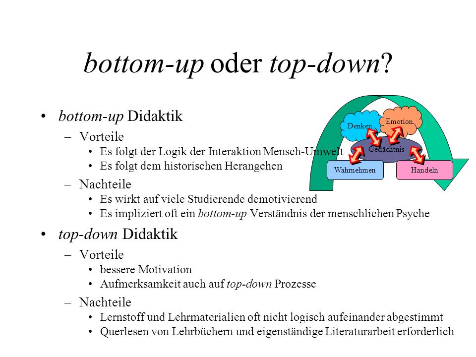 bottom-up oder top-down