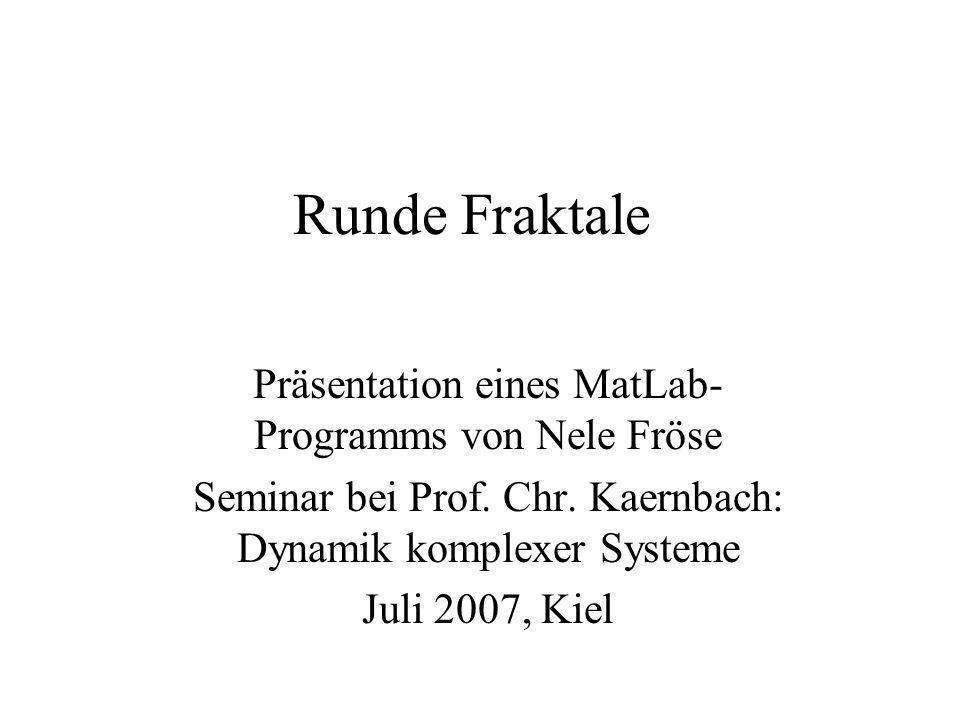 Runde Fraktale Präsentation eines MatLab-Programms von Nele Fröse