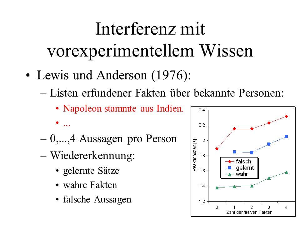 Interferenz mit vorexperimentellem Wissen