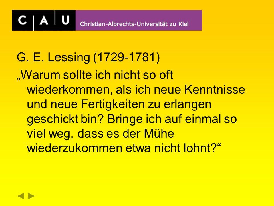 G. E. Lessing (1729-1781)