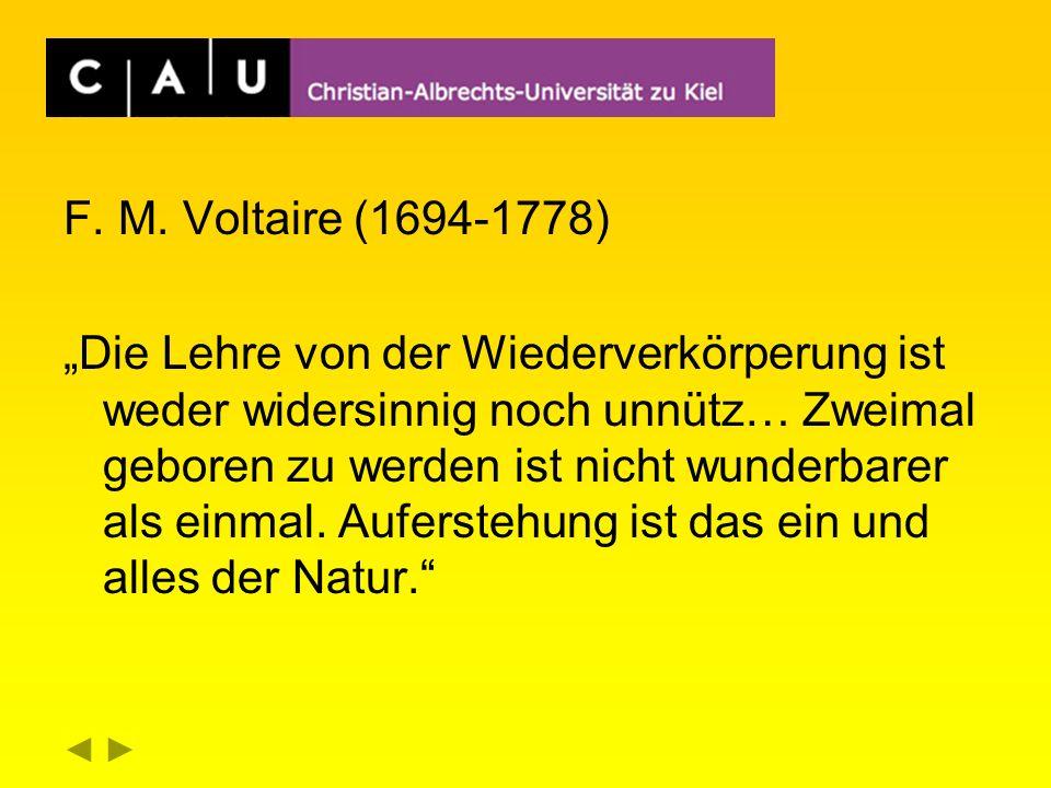 F. M. Voltaire (1694-1778)