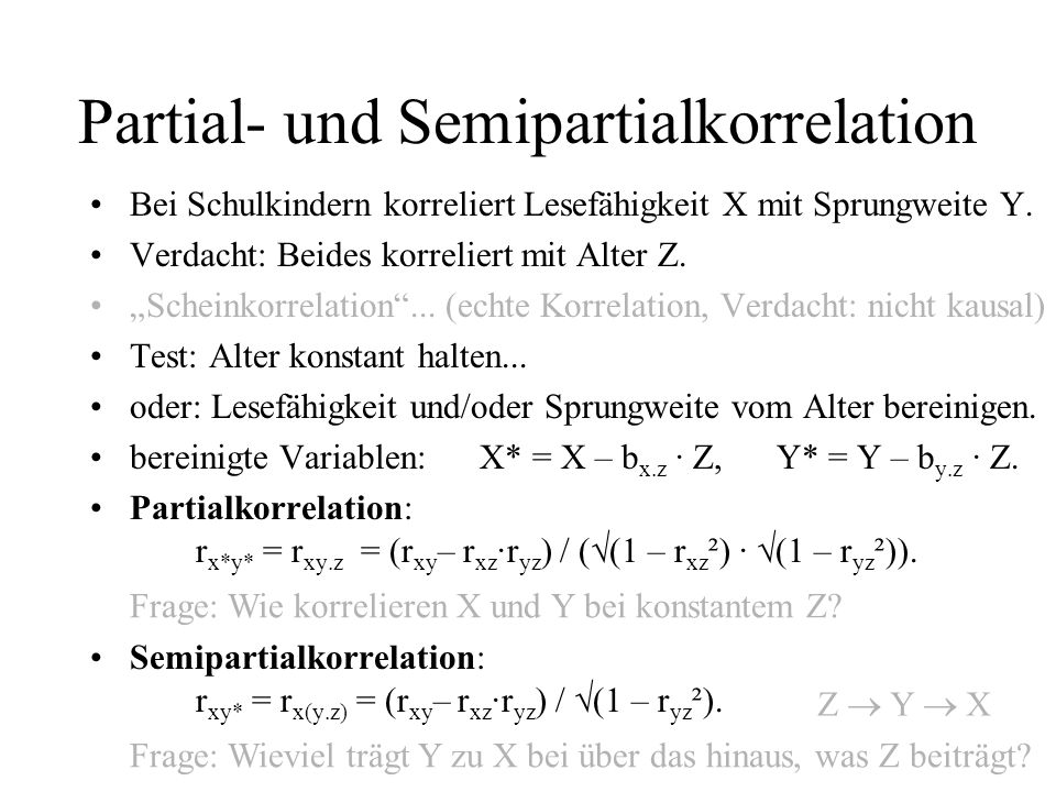 Partial- und Semipartialkorrelation